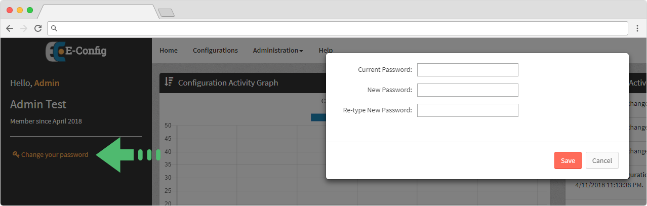 Web Application - Administration - Change Password