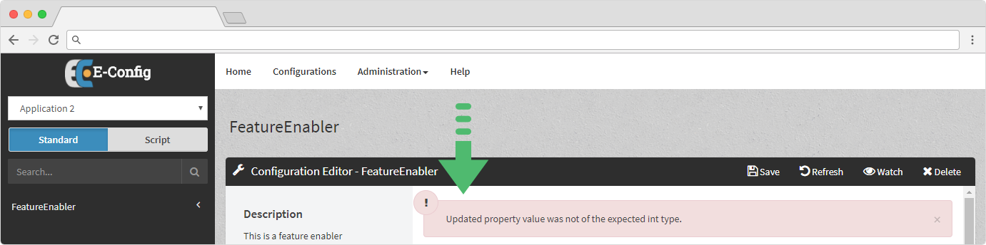 Web Application - Making Updates - Validation Error
